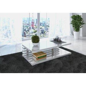 ArtAdr Konferenčný stolík ALEXIS Farba: biely lesk