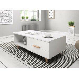 WIP Konferenčný stolík SWEDEN 3 Farba: Biela / biely lesk
