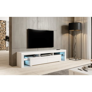 Artcam RTV stolík TORO 200 cm Farba: Biela/biely lesk