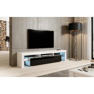 Artcam RTV stolík TORO 200 cm Farba: biely lesk / čierny lesk