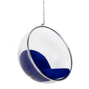 ArtKing Kreslo visiace BUBBLE Farba: Modrá