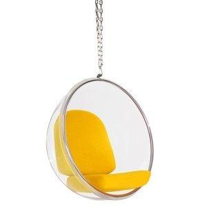 ArtKing Kreslo visiace BUBBLE Farba: Žltá