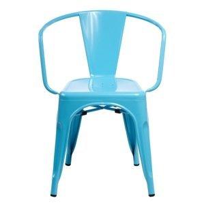 ArtD Jedálenská stolička Paris Arms inšpirovaná Tolix Farba: Modrá
