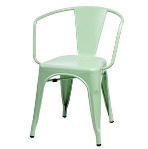 ArtD Jedálenská stolička Paris Arms inšpirovaná Tolix Farba: Zelená