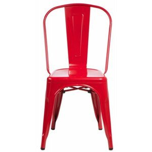 ArtD Jedálenská stolička Paris inšpirovaná Tolix Farba: Červená