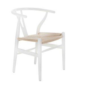 ArtD Jedálenská stolička Wicker Color inšpirovaná Wishbone Farba: Biela