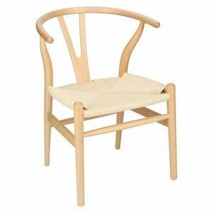 ArtD Jedálenská stolička Wicker Color inšpirovaná Wishbone Farba: Prírodné drevo