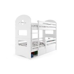 BMS Detská poschodová posteľ DOMINIK Farba: Biela / biela, Rozmer.: 190 x 80 cm