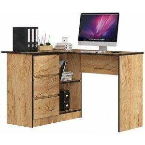 ArtAko Písací stolík Clips B16 / craft zlatý Prevedenie: ľavé