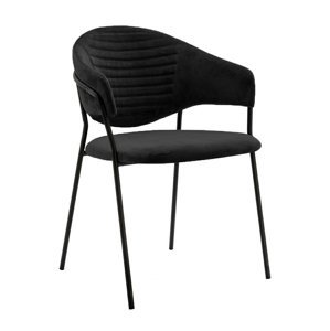 ArtKing Stolička NAOMI čierna podstava Farba: Čierna