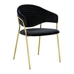 ArtKing Stolička NAOMI zlatá podstava Farba: Čierna
