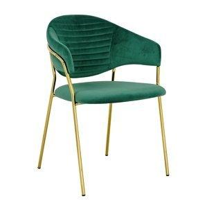 ArtKing Stolička NAOMI zlatá podstava Farba: Zelená