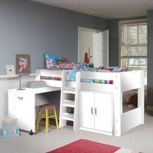 ArtFMbra Detská poschodová posteľ + stolík FUNKY Farba: Biela