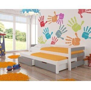ArtAdr Detská posteľ Fraga biela/grafit