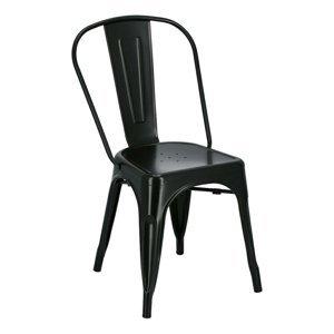 ArtD Jedálenská stolička Paris inšpirovaná Tolix čierna