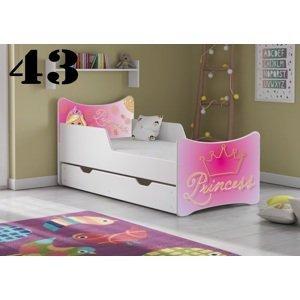 Artplast Detská posteľ SMB so zásuvkou PRINCESS