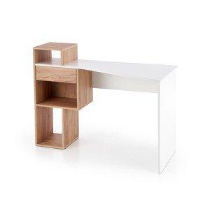 Halmar Písací stolík Conti Prevedenie: biela/ dub zlatý