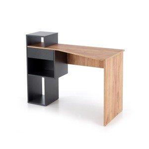 Halmar Písací stolík Conti Prevedenie: sivá/ dub wotan