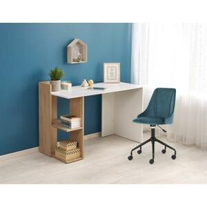 Halmar Písací stolík FINO Prevedenie: biela/ dub zlatý
