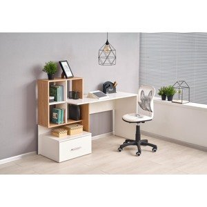 Halmar Písací stolík Grosso Prevedenie: biela/ dub zlatý