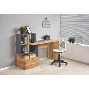 Halmar Písací stolík Grosso Prevedenie: sivá/ dub wotan