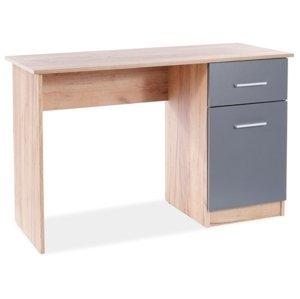 Signal Písací stolík B-002 Farba: Sivá / Dub