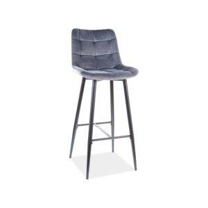 Signal Barová stolička CHIC H- 1 Velvet Farba: Sivá