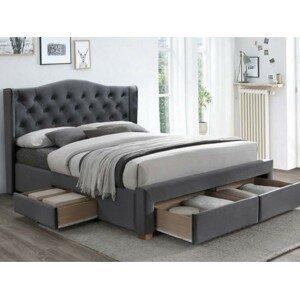 Signal Manželská posteľ Aspen II Velvet 160x200 cm