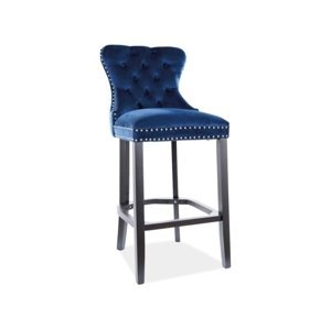 Signal Barová stolička August  H-1 Velvet Farba: Modrá
