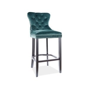 Signal Barová stolička August  H-1 Velvet Farba: Zelená
