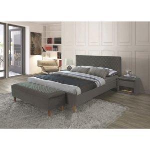 Signal Manželská posteľ Azurro Velvet 160x200 Farba: Sivá