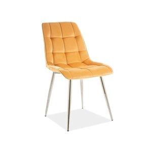 Signal Jedálenská stolička CHIC VELVET |Chróm Farba: Bluvel 68