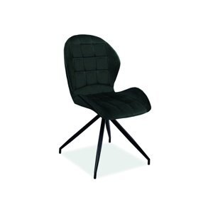Signal Jedálenská stolička HALS II VELVET Farba: Čierna