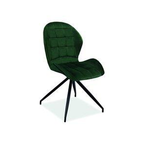 Signal Jedálenská stolička HALS II VELVET Farba: Zelená