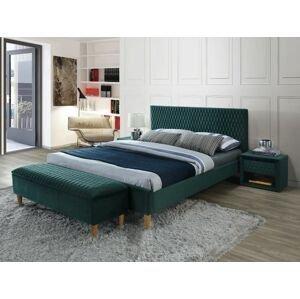 Signal Manželská posteľ Azurro Velvet 140x200 Farba: Zelená