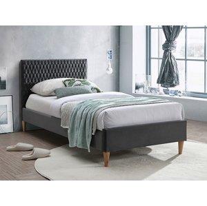 Signal Manželská posteľ Azurro Velvet 90x200 Farba: Sivá