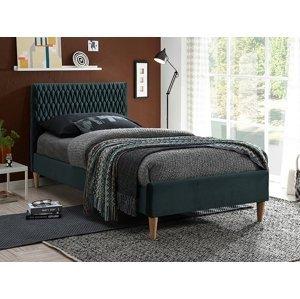 Signal Manželská posteľ Azurro Velvet 90x200 Farba: Zelená