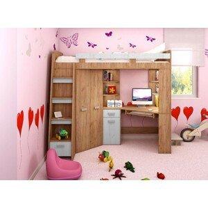 WIP Detská rohová vyvýšená posteľ ANTRESOLA výpredaj