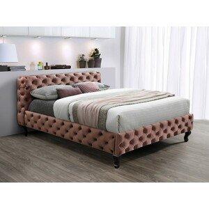 Signal Manželská posteľ Herrera Velvet 160x200 cm Farba: Bluvel 52