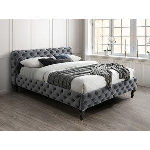Signal Manželská posteľ Herrera Velvet 160x200 cm Farba: Bluvel 14