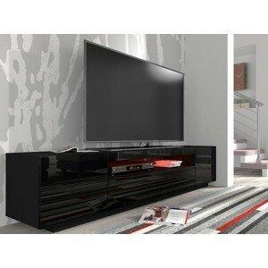 ARTBm RTV skrinka 200 |čierna - čierny lesk