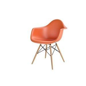 ArtKwa Stolička P018W /inšpirovaná DAR/ Farba: Oranžová