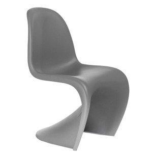 Stolička Balance /inšpirovaná Panton Chair/ Farba: Tmavo sivá