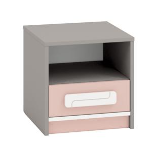 MLnábytok Nočný stolík IQ 13 Farba: pudrová