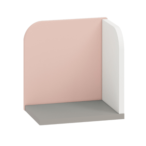 MLnábytok Polička IQ 16 Farba: pudrová