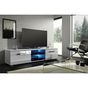 WIP Tv stolík Moon 140 Farba: Biela / biely lesk