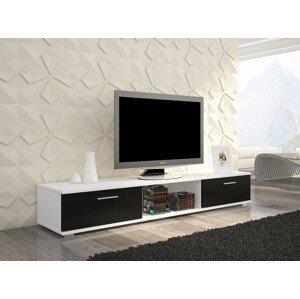 ArtAdr TV stolík Sella Farba: biela / čierny mat