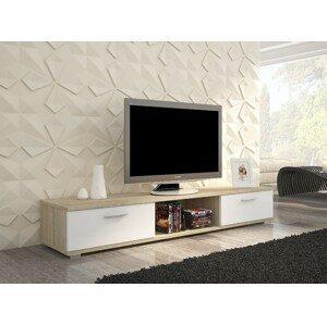 ArtAdr TV stolík Sella Farba: dub sonoma / biely mat
