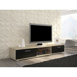 ArtAdr TV stolík Sella Farba: dub sonoma / čierny mat