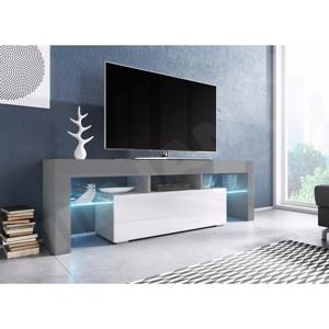 WIP TV stolík EVEREST 160 Farba: Šedá / Biely lesk
